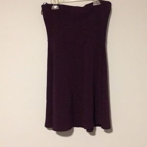 Strapless plum dress express